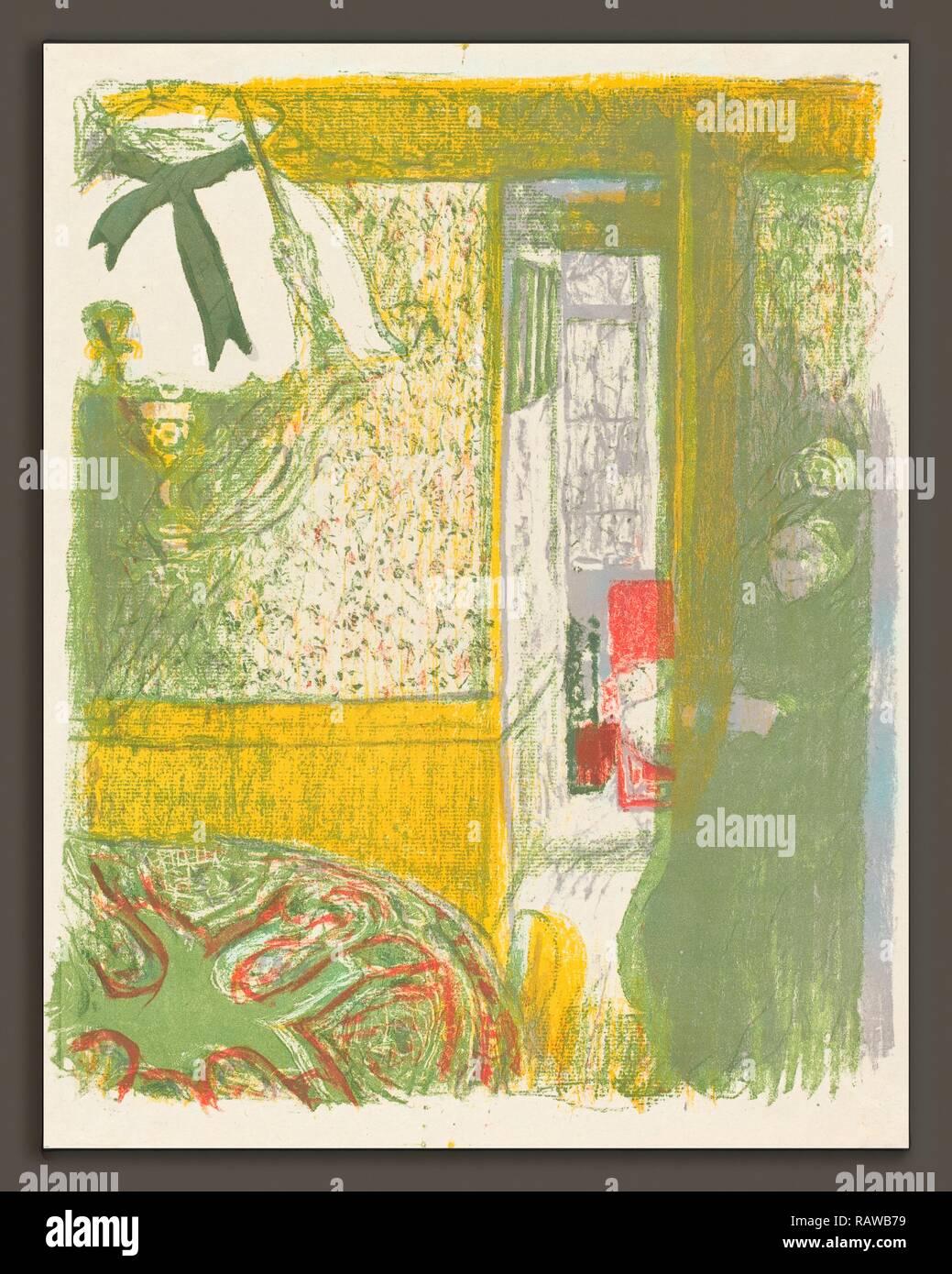 Edouard Vuillard (Französisch, 1868-1940), Innenraum mit hängenden Lampe (Interieur a la Suspension), 1899, Farbe Neuerfundene Stockbild