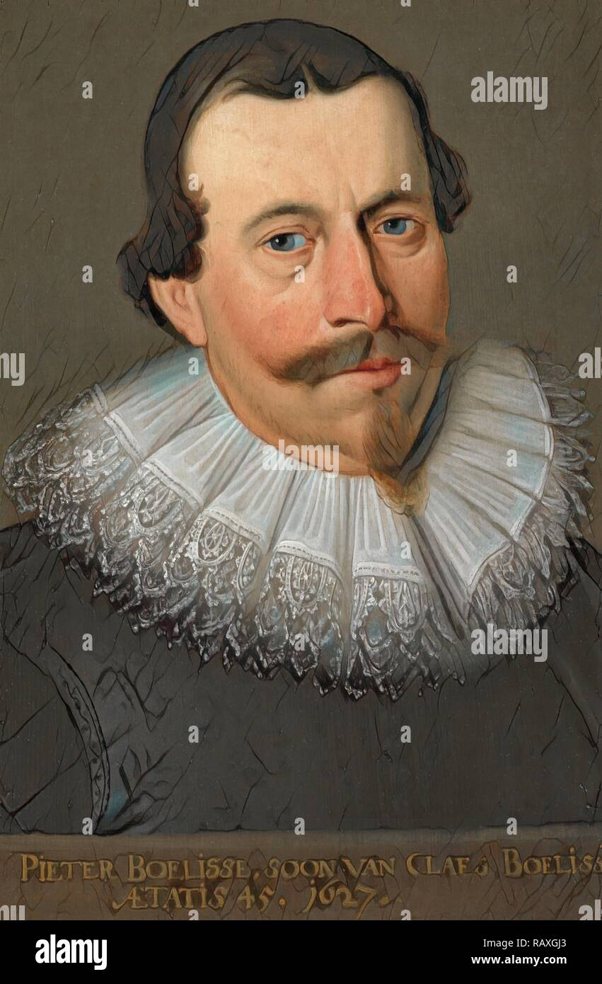 Portrait von Pieter Claesz Boelens (ehemals berechtigt, Pieter Boelisse), Kopie nach Anonym, in oder nach 1627 überarbeitet Stockbild
