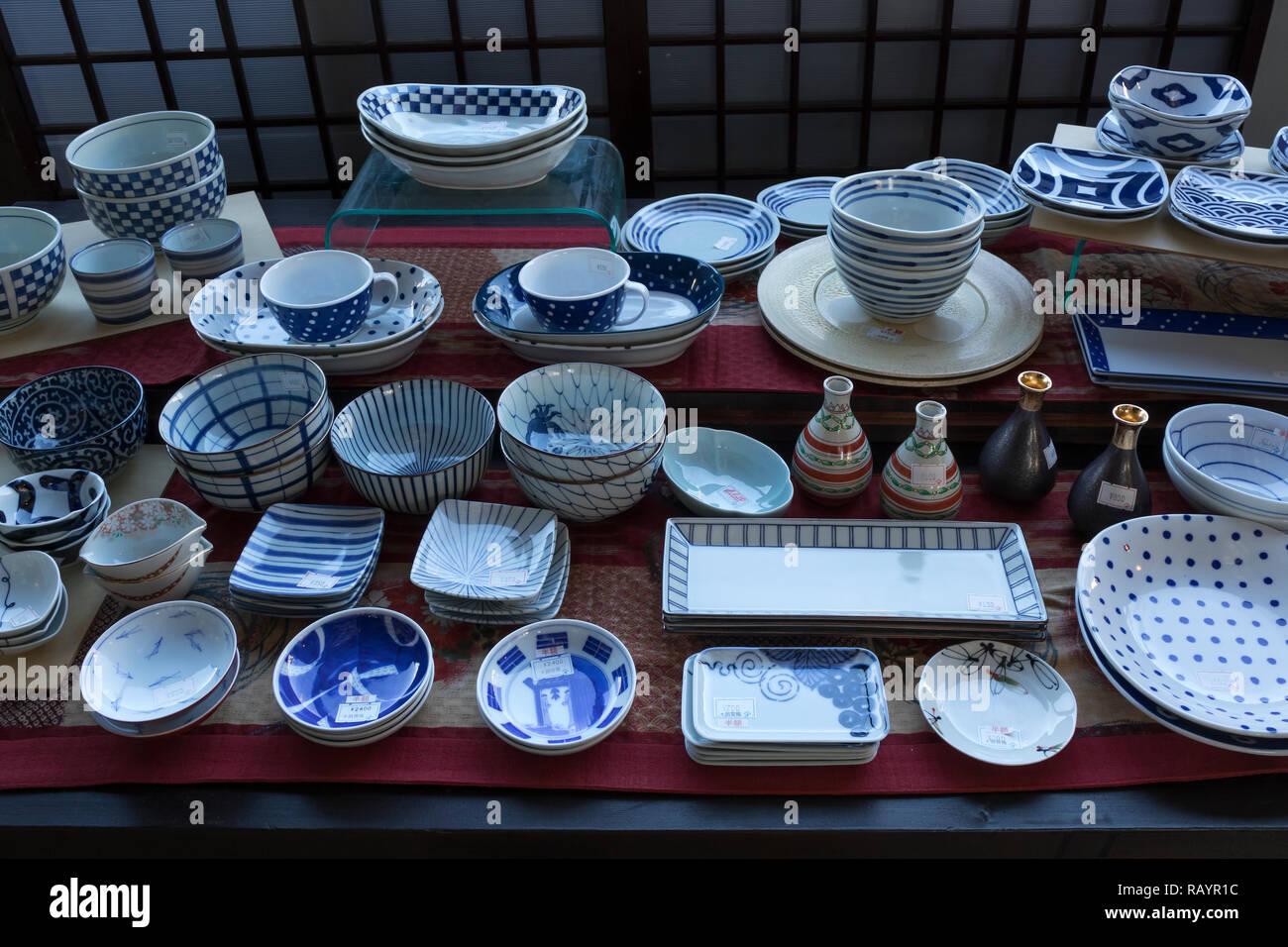 Arita Japan 30 Oktober 2018 Schaufenster Mit Arita Ware Japanisches Porzellan In Der Gegend Um Die Stadt Arita Stockfotografie Alamy