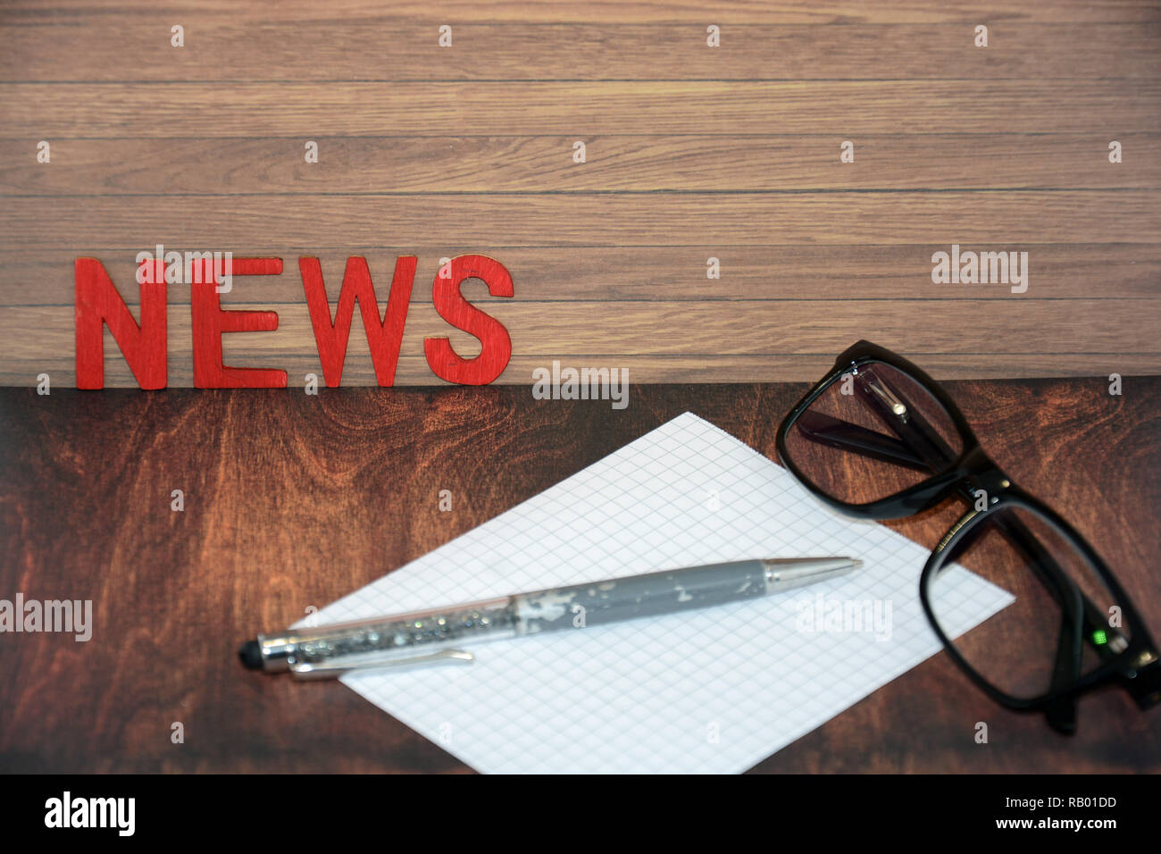 Nachrichten, Hintergrund, Textfeld Stockbild