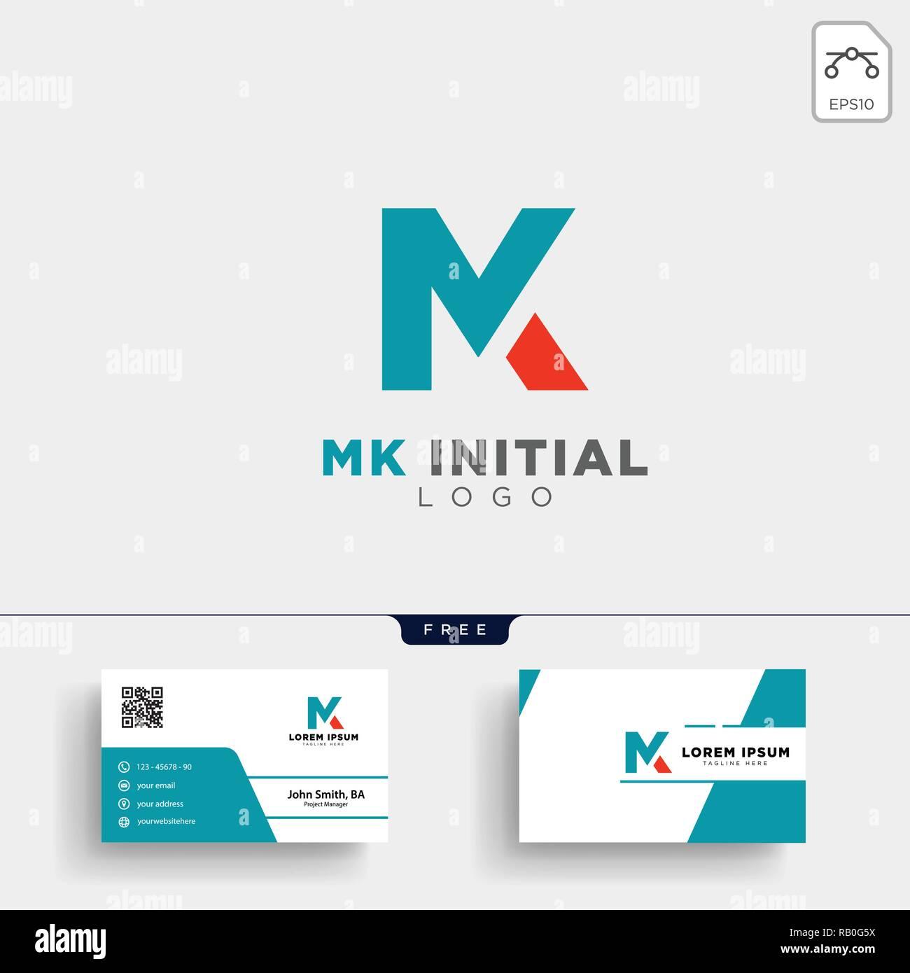 Mk Erste Logo Template Vector Illustration Und Sie