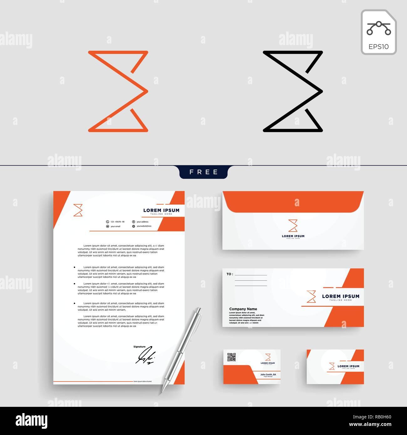 Minimale E Erste Logo Template Vector Illustration Und