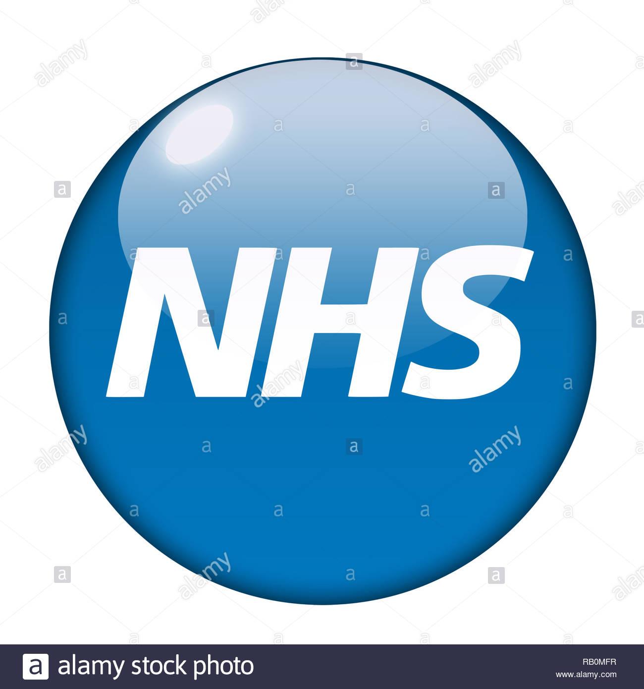 NHS Health Service logo Stockbild