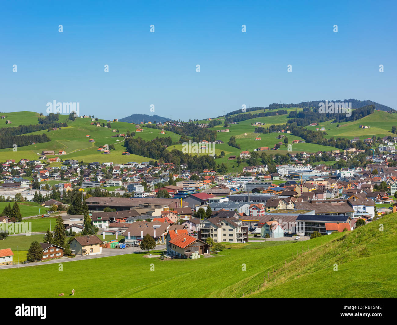 Gebäude der Stadt von Appenzell in der Schweiz Stockbild