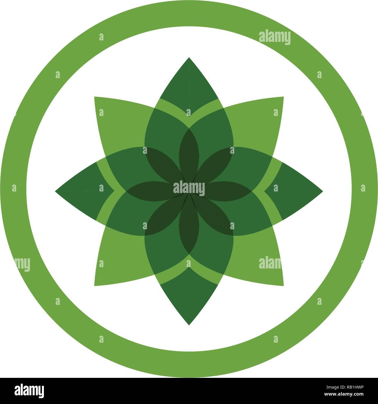 Blatt grün Natur Symbol logo template Vector Stockbild