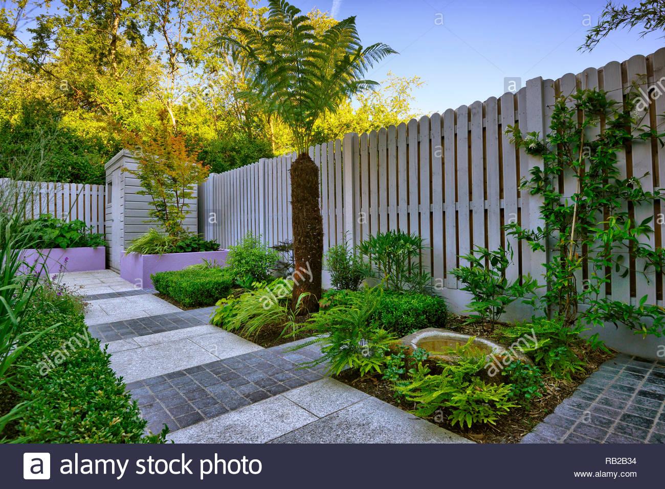 Kleiner Garten, Reihenhaus, schattig, schattigen, alleinstehende ...