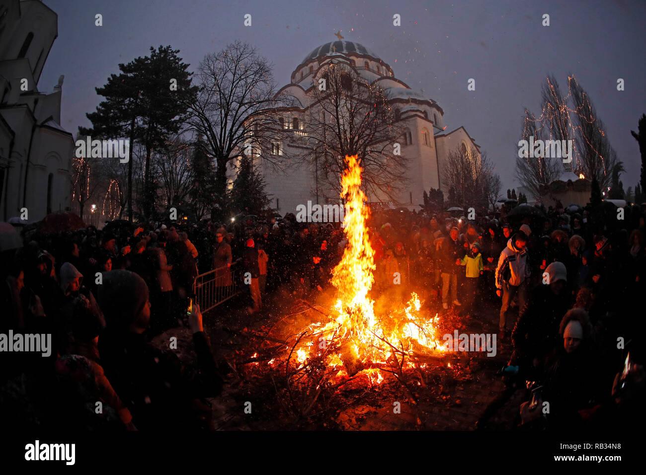 Frohe Weihnachten Serbisch.Serbisches Weihnachten Stockfotos Serbisches Weihnachten Bilder