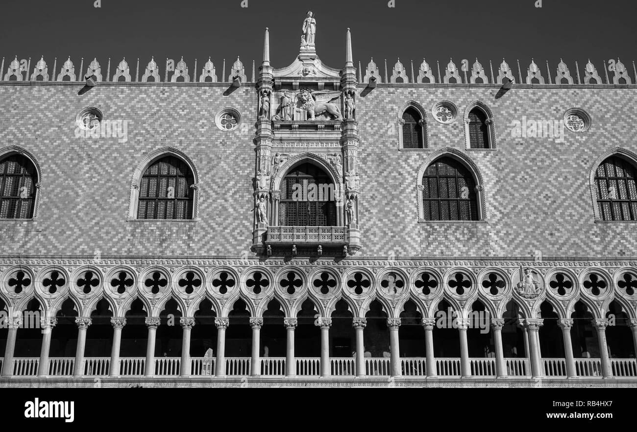 Dogenpalst, Westfassade, Venedig Stockbild