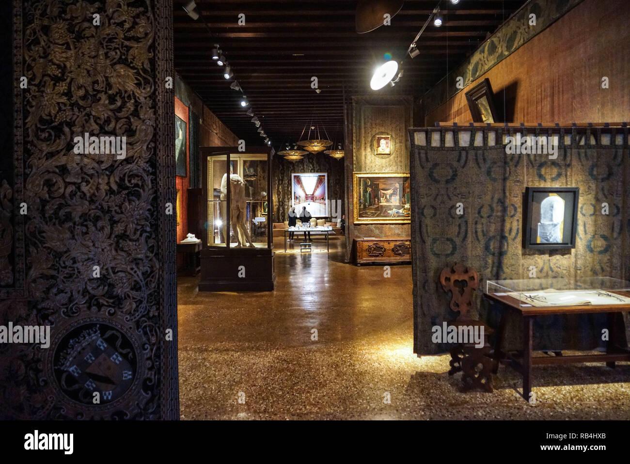 Venedig Palazzo Fortuny Stockbild