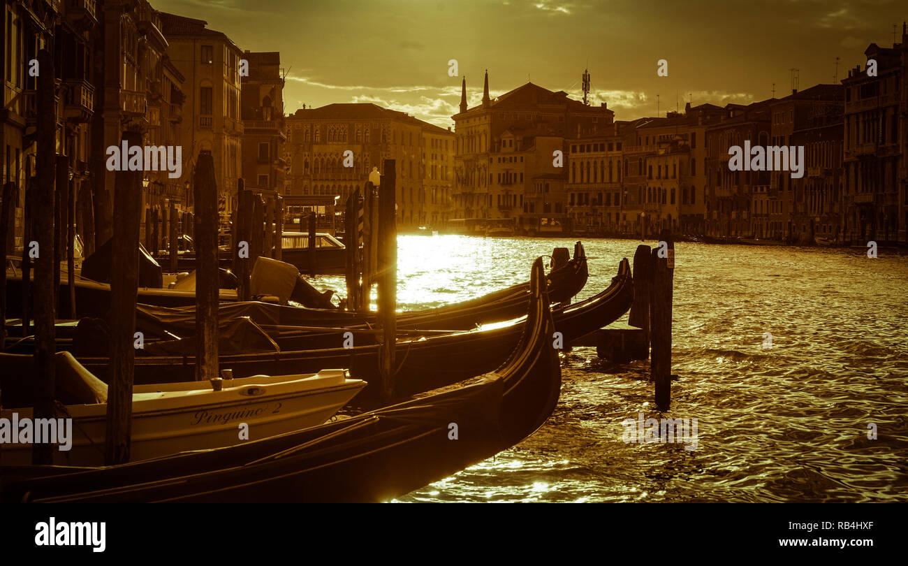Venedig, Canal Grande Stockbild