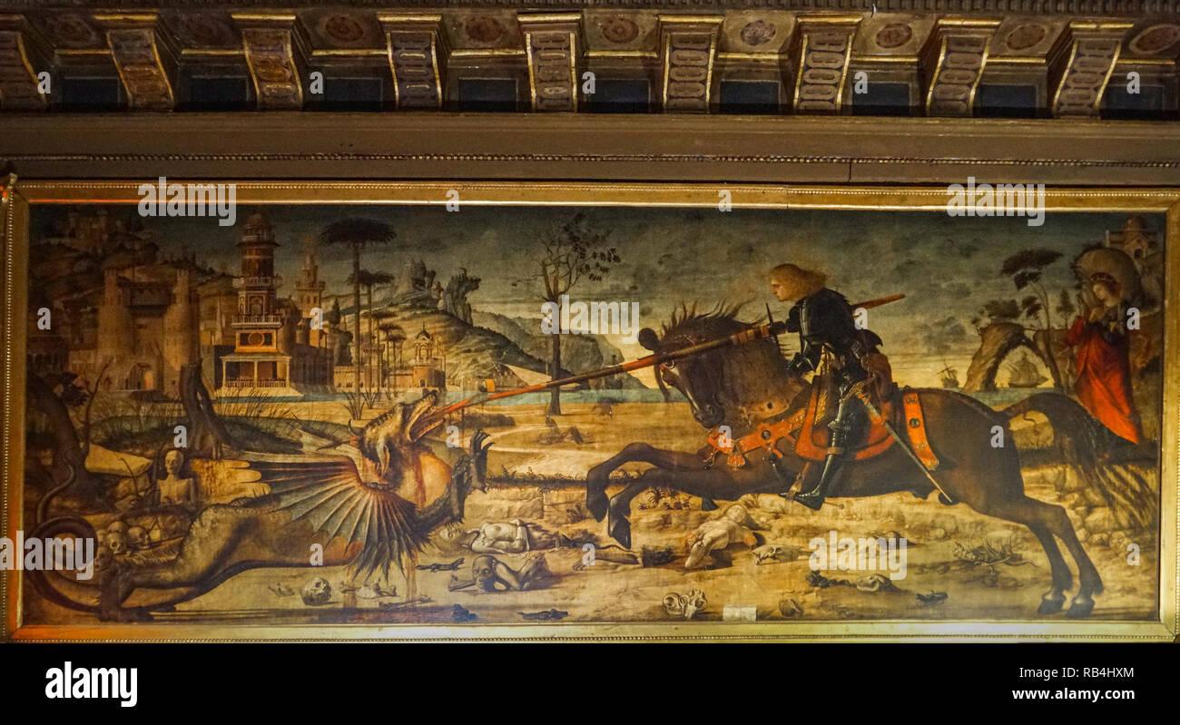 Venedig Scuola Dalmata dei SS. Giogio e Trifone Stockbild