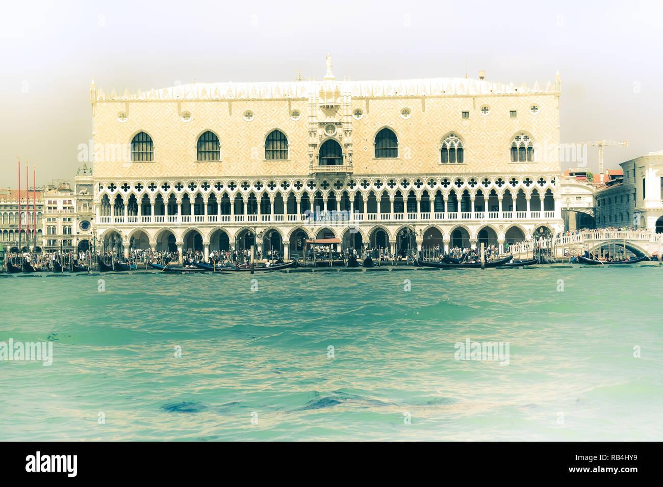 Venedig Dogenpalast Stockbild