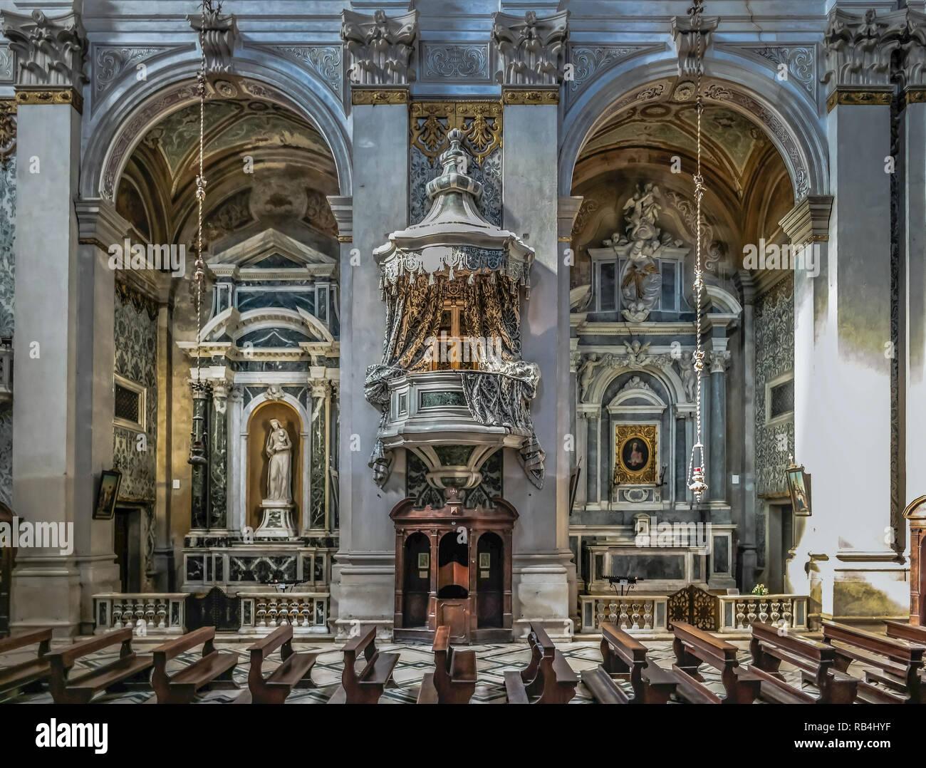 Venedig Chiesa dei Gesuiti Santa Maria Assunta Stockbild