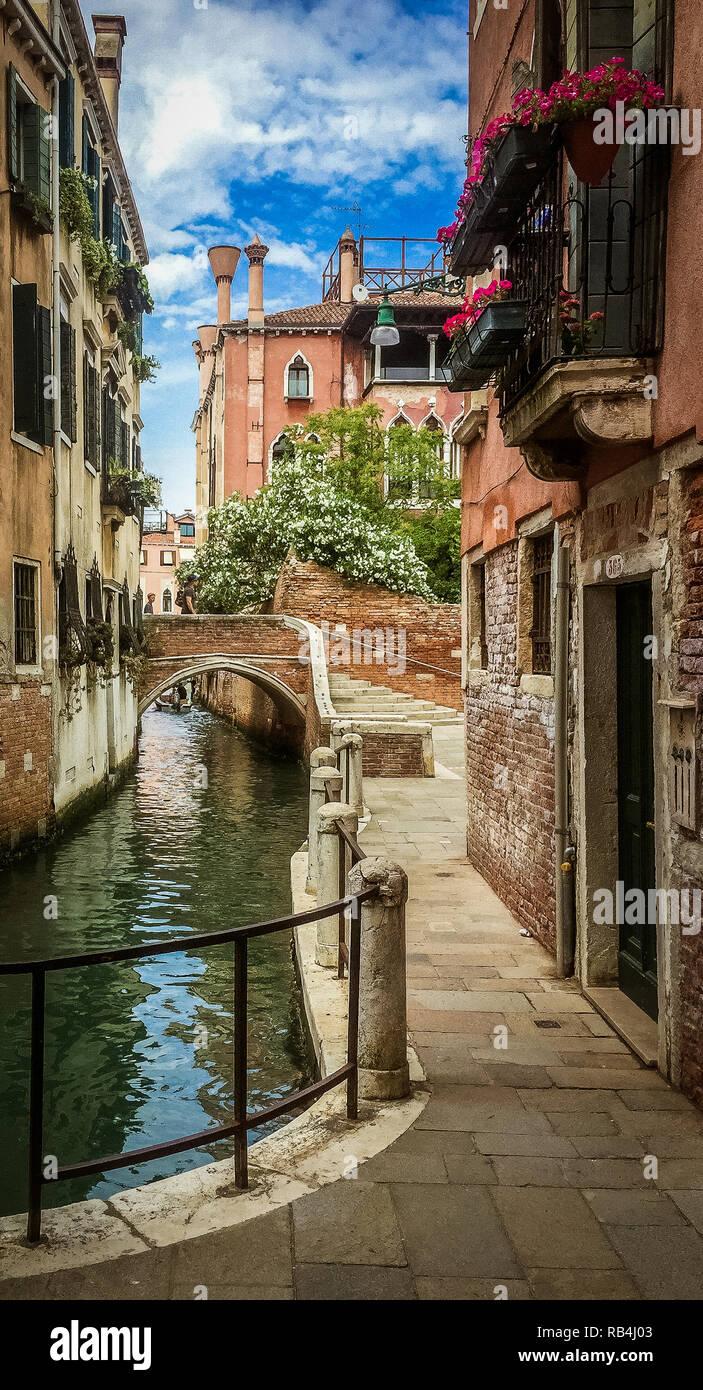 Venedig nahe Accademia Stockbild