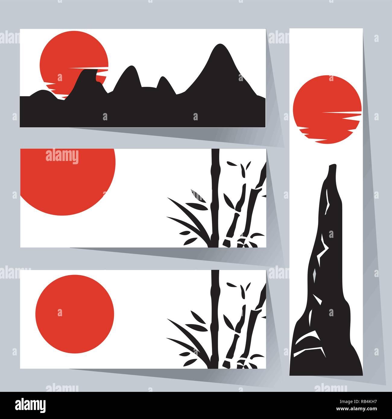 Traditionelle Japanische Malerei Stock Vektorgrafik Alamy