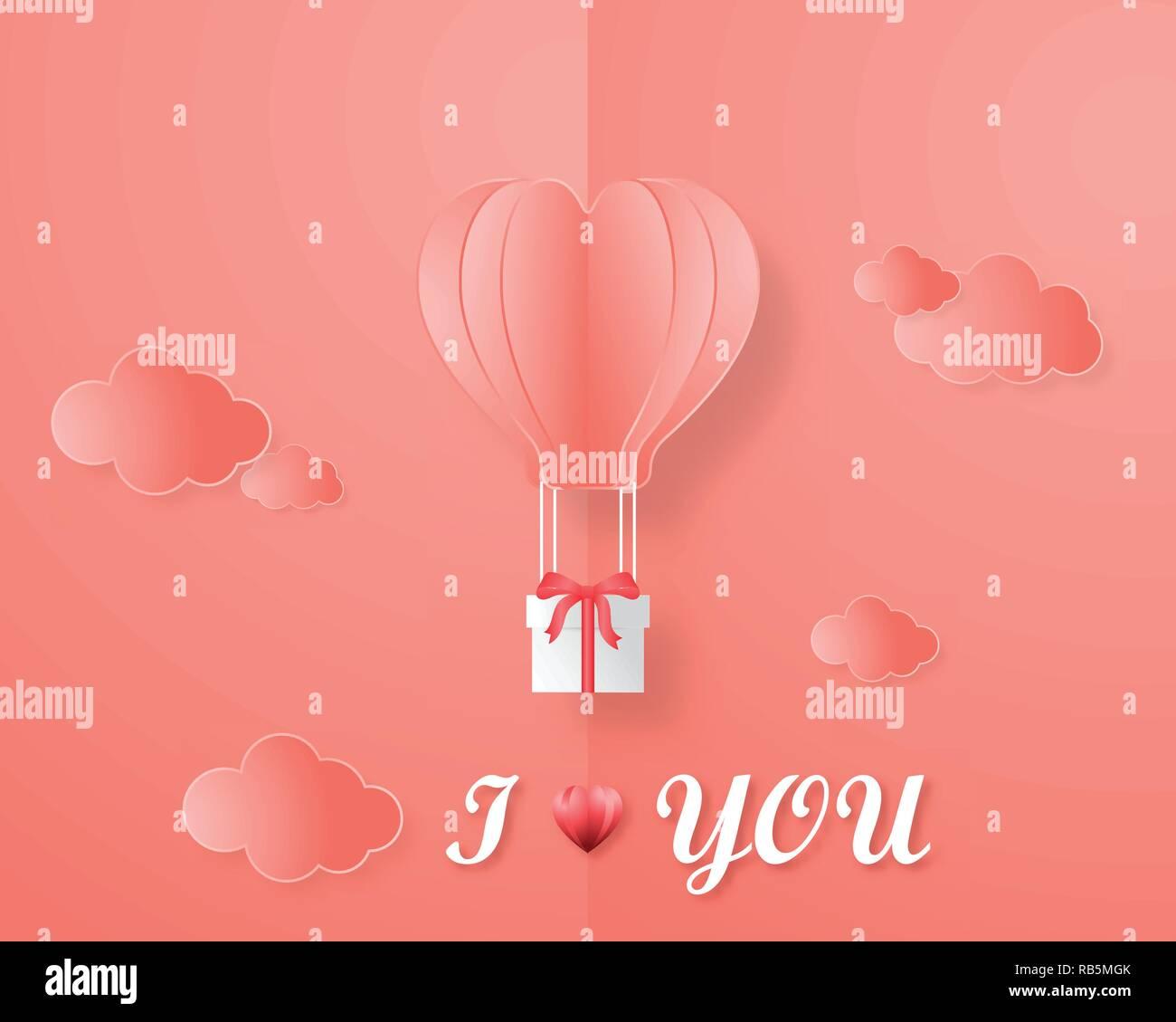 Kreative Einladung Liebe Card Valentinstag Vektor Illustration