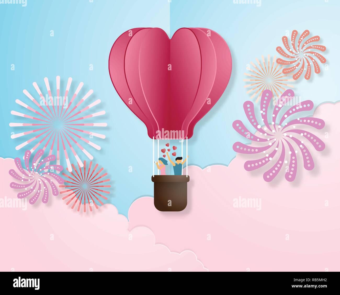 Schopferische Liebe Einladungskarte Valentinstag Vektor Illustration