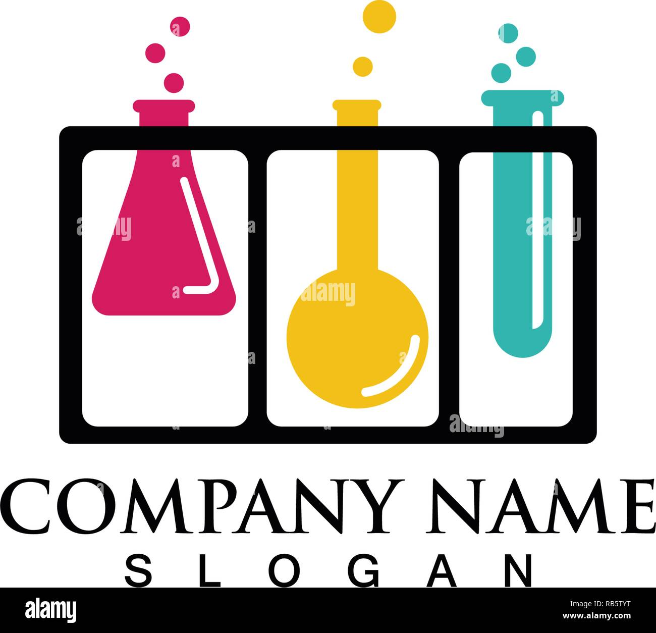 Labor Logos und Symbole Vektor lab Stock Vektor
