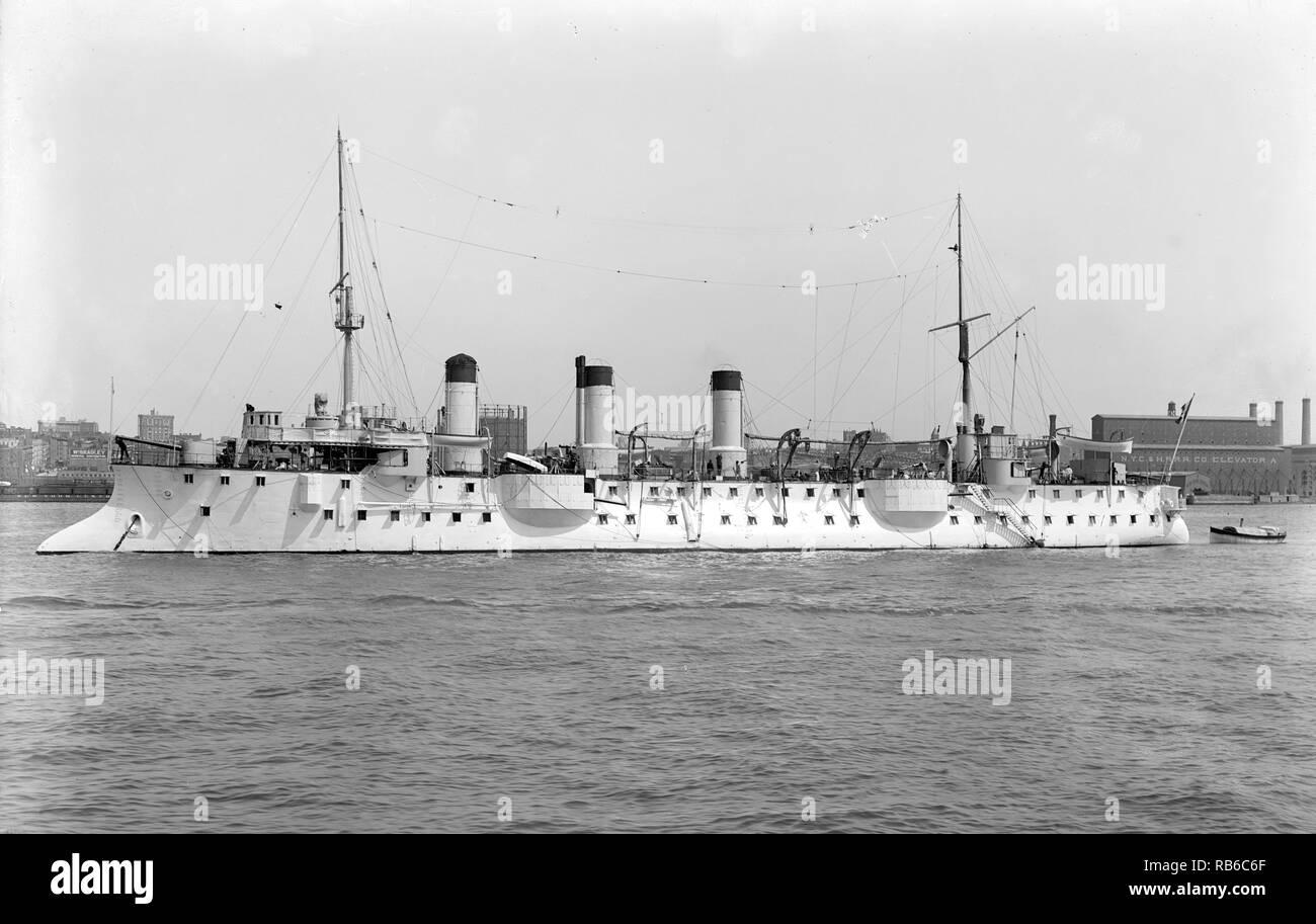 Chasseloup Loubet Kriegsschiff, Chasseloup-Laubat, Französisch 393 Kriegsschiffe Stockbild