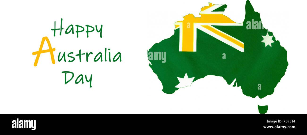 Karte Von Australien Mit Der Australischen Flagge In Inoffiziellen