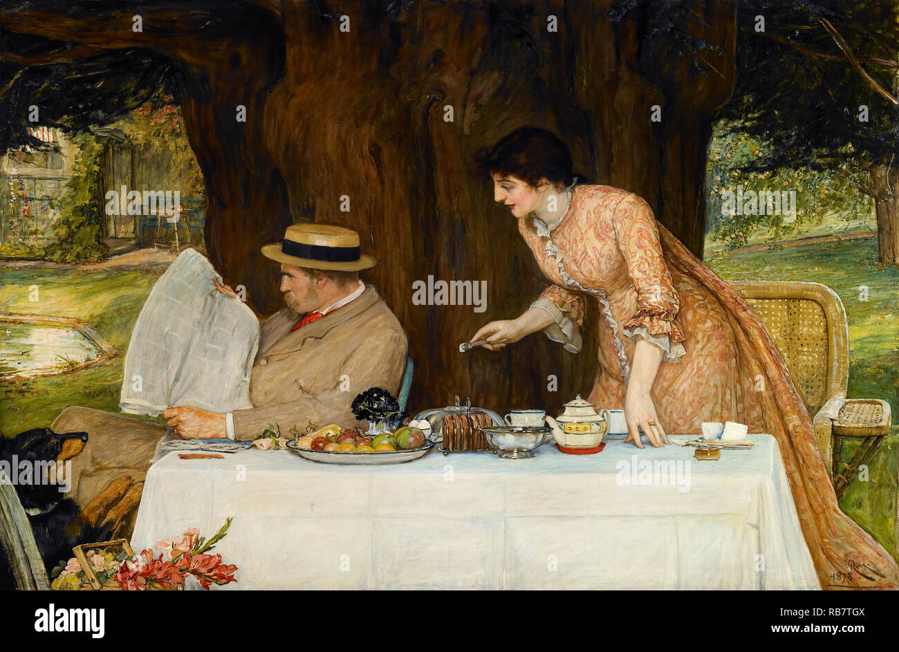 Charles Robert Cockerell, unsere erste Tiff, 1878 Öl auf Leinwand, Walker Art Gallery, Liverpool, England. Stockbild