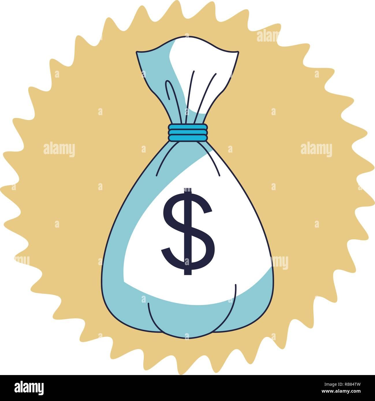 Geld sparen Cartoon Stockbild