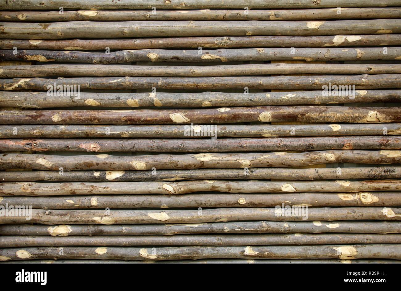 Alten Zaun Aus Asten Wand Aus Zweigen Als Hintergrund Oder Textur