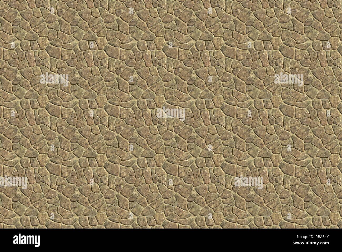 Light Stone Street Detailansicht Steinboden Muster Hintergrund, Textur Stockfoto