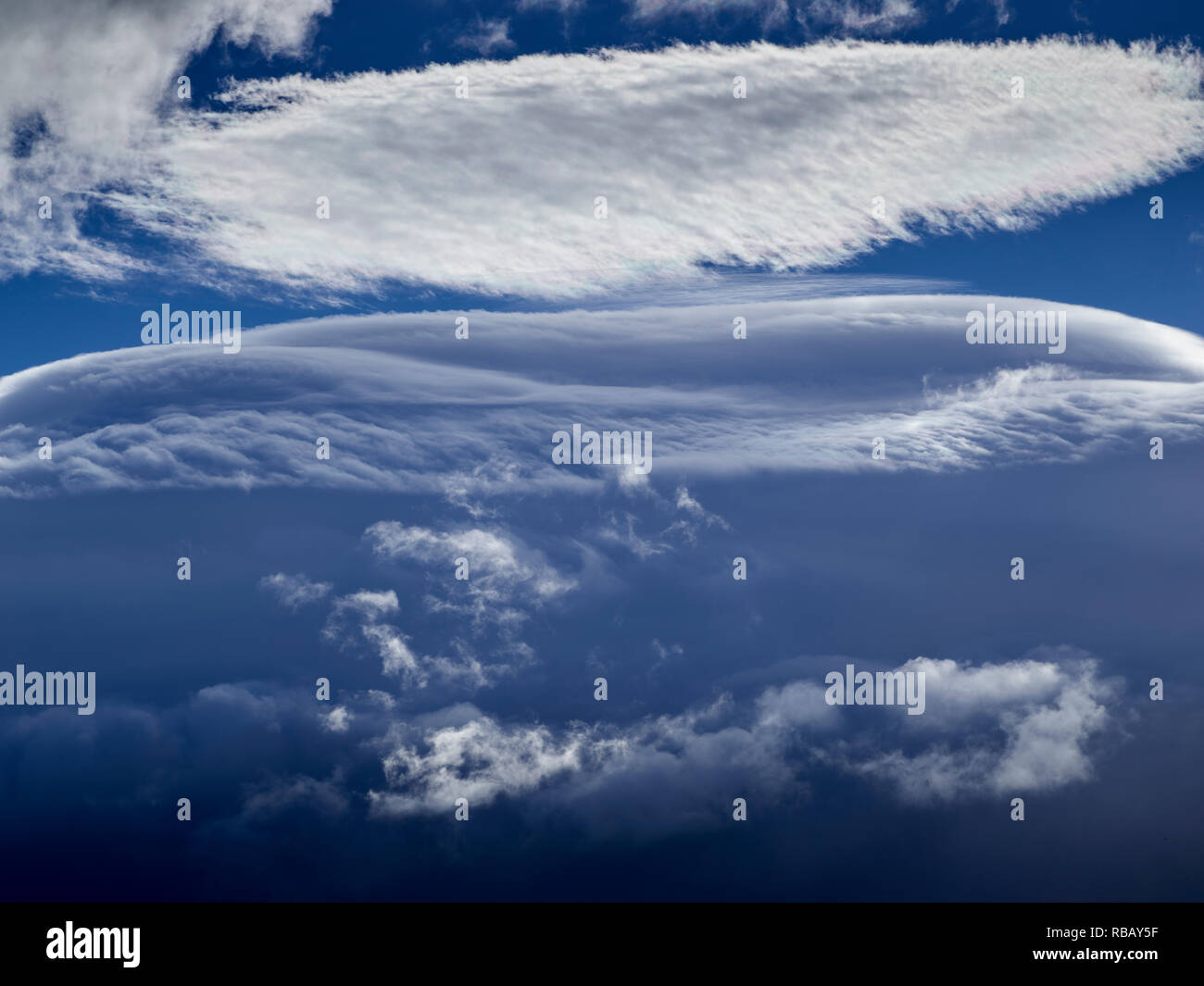 Cloudscape, Island Stockbild