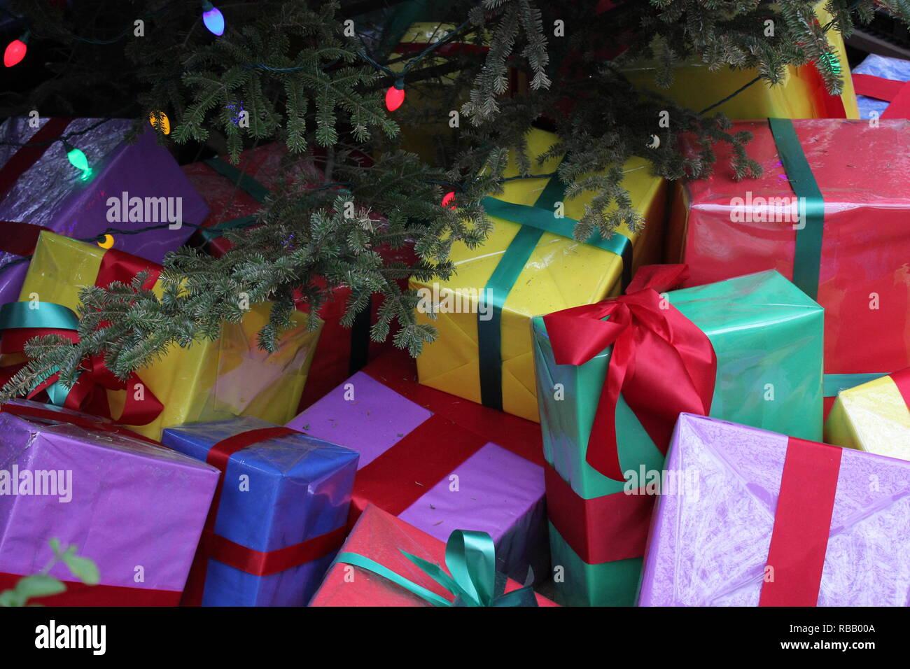 Weihnachtsfeiertag Flower Show am Lincoln Park Conservatory in Chicago, Illinois, USA. Stockbild