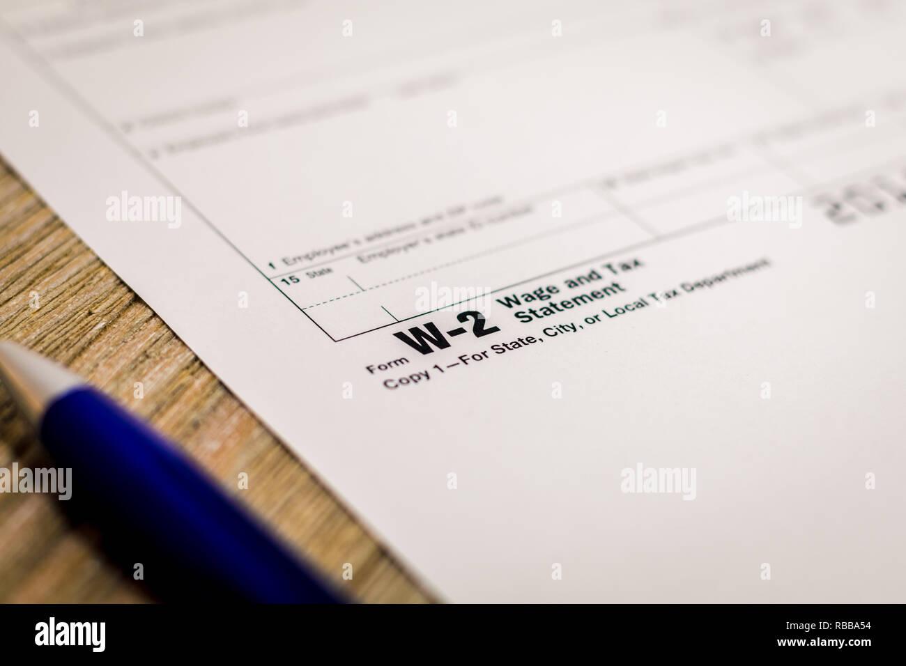 business w2 form  Noch leben Business Finance Konzept, Form W13, mit ...
