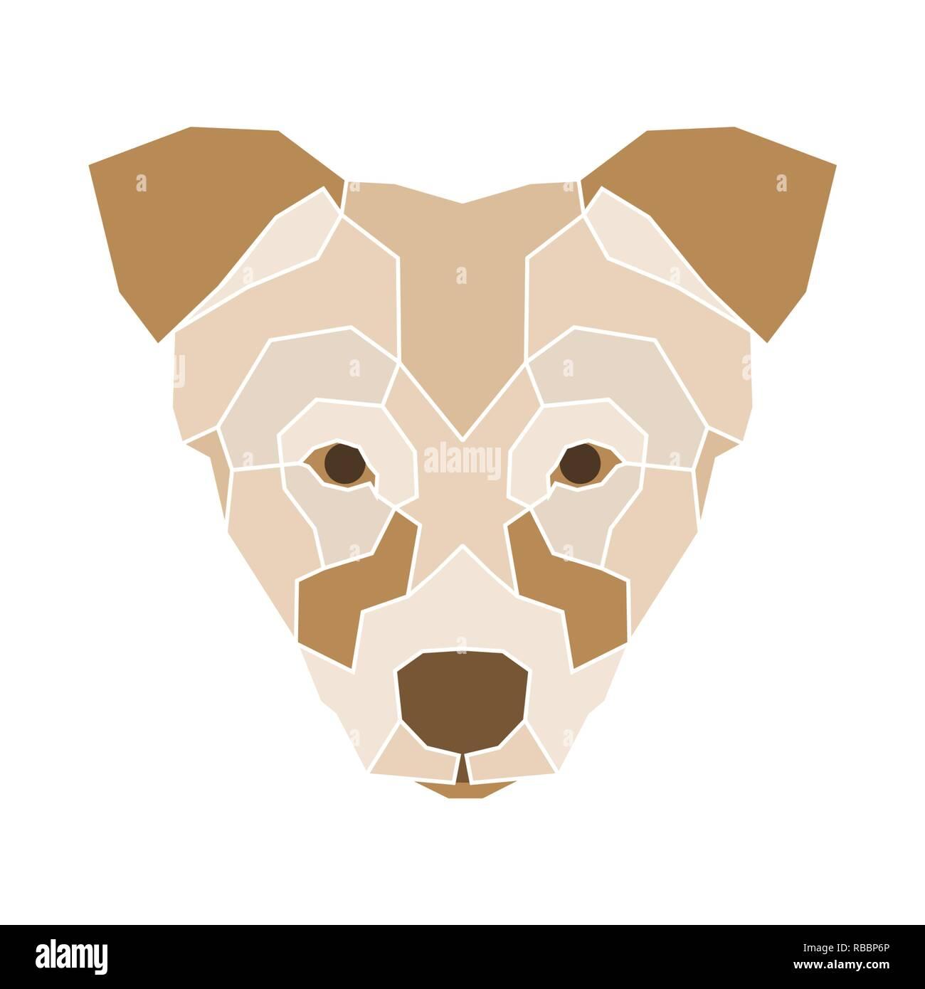 Low Poly Kopf des Hundes Stockbild