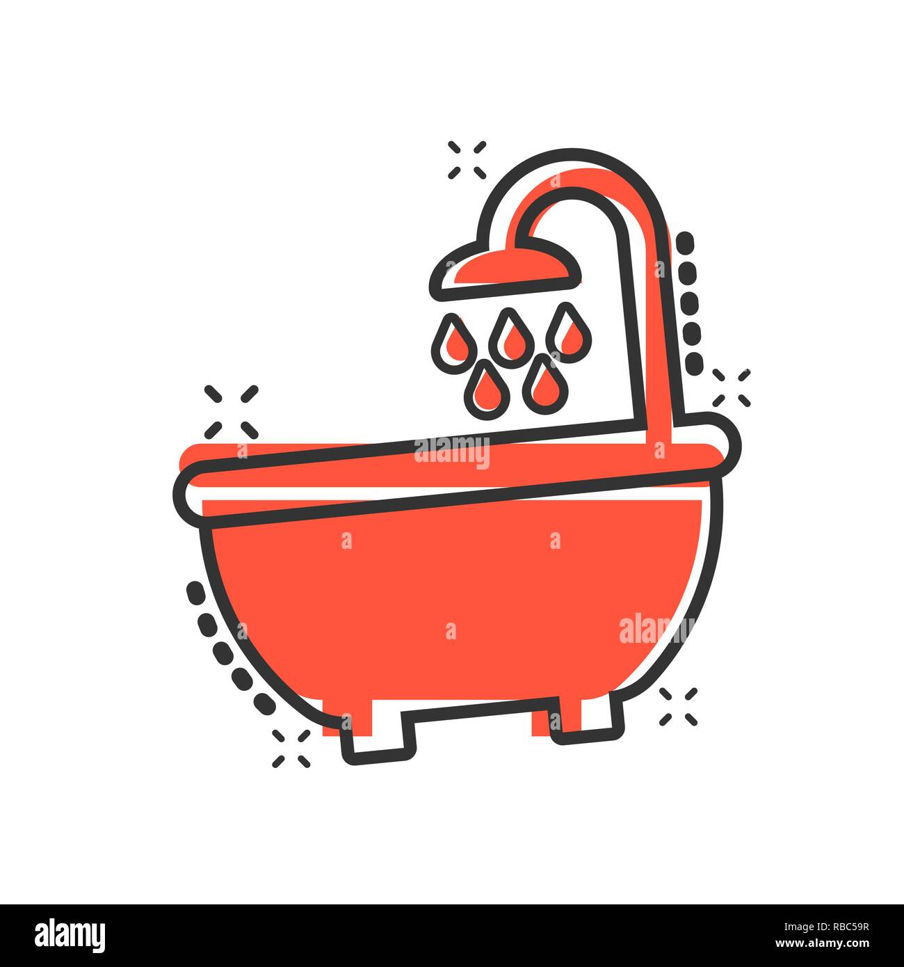 badewanne comic bilder