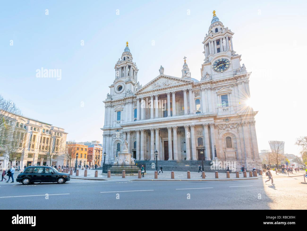Großbritannien, England, London, Ludgate Hill, St. Paul's Cathedral Stockbild