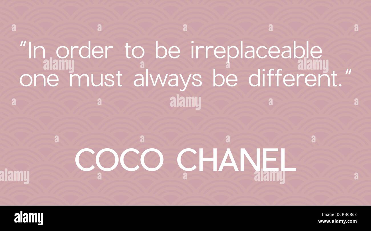 Coco Chanel Quotes Stockfotos Coco Chanel Quotes Bilder