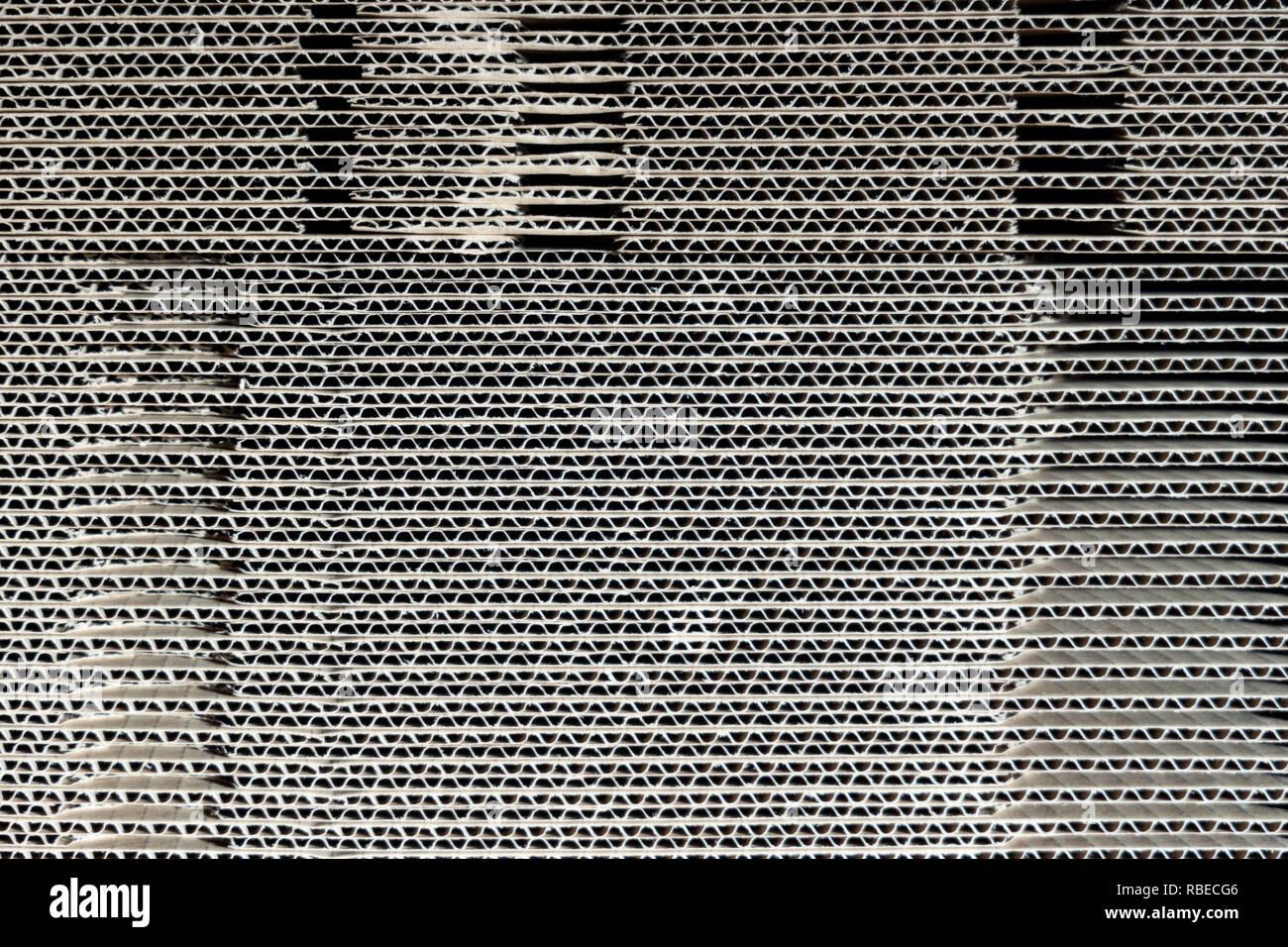 Heap aus gewelltem Kunststoff Stockfoto