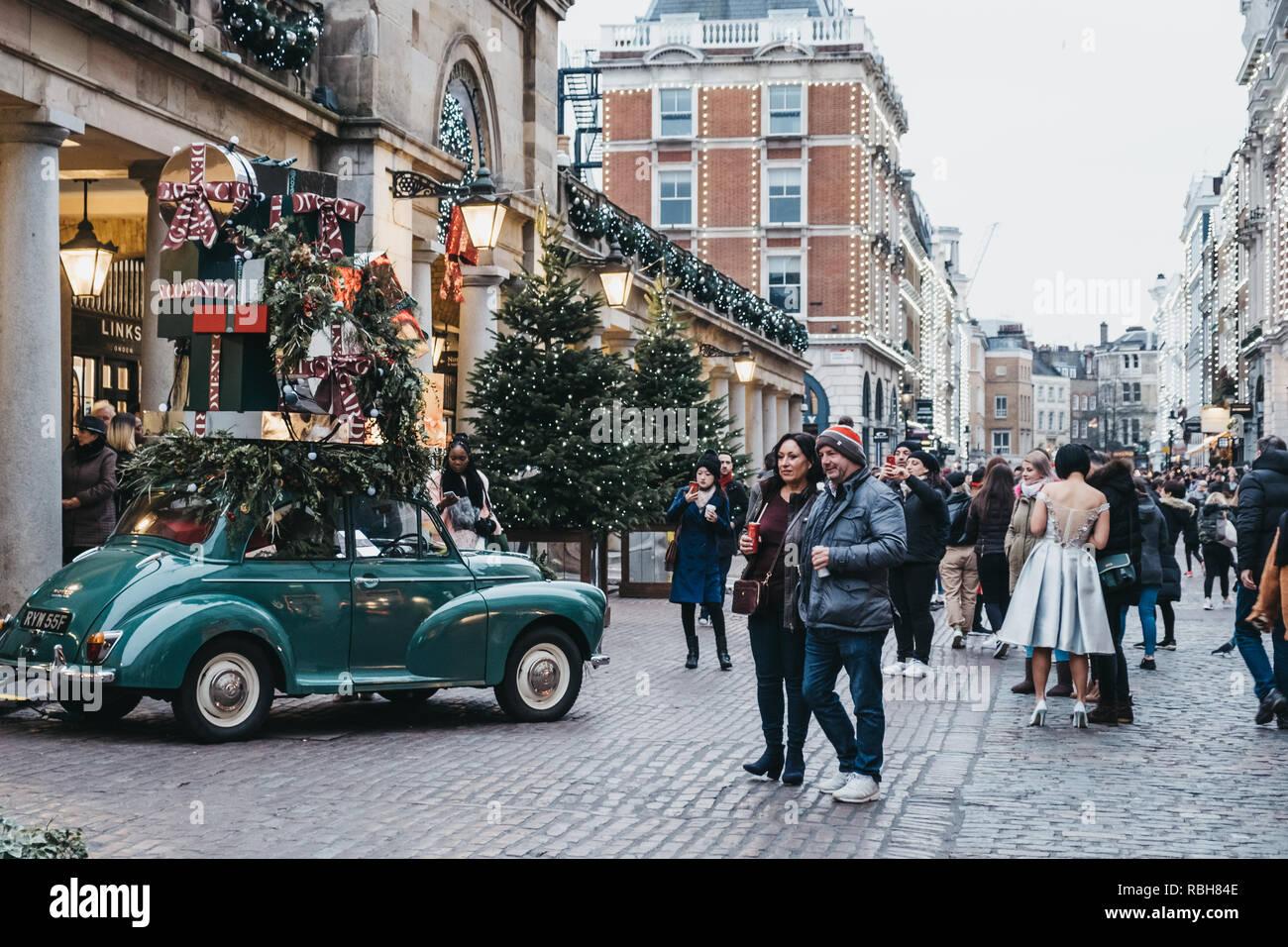 London Grossbritannien 21 November 2018 Menschen Vorbei Gehen Und