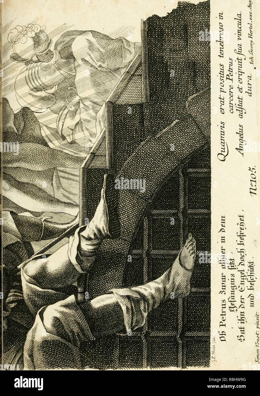"""""""Pars I. des berühmten ITALIÄNISCHE[n] Ritters Caesaris Ripae, allerley Künsten und Wissenschafften dienlicher Sinnbildern und Gedancken: welchen jedesmahlen eine hierzu taugliche Historia oder beÿgefüget Gleichnis' (1758) Stockbild"""