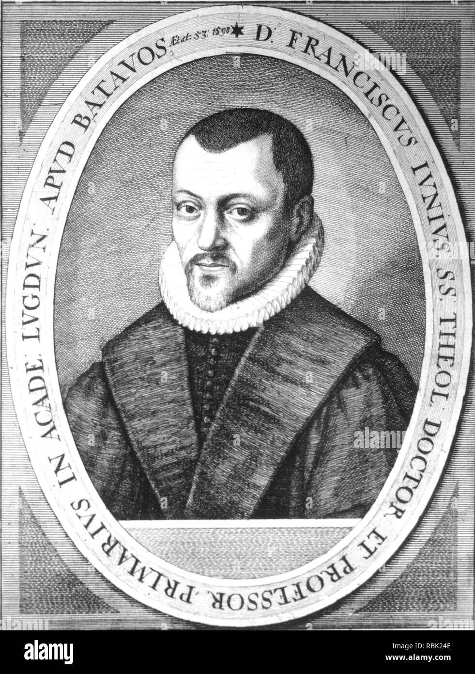 FRANÇOIS du JON (1545-1602), französischer Theologe Stockbild