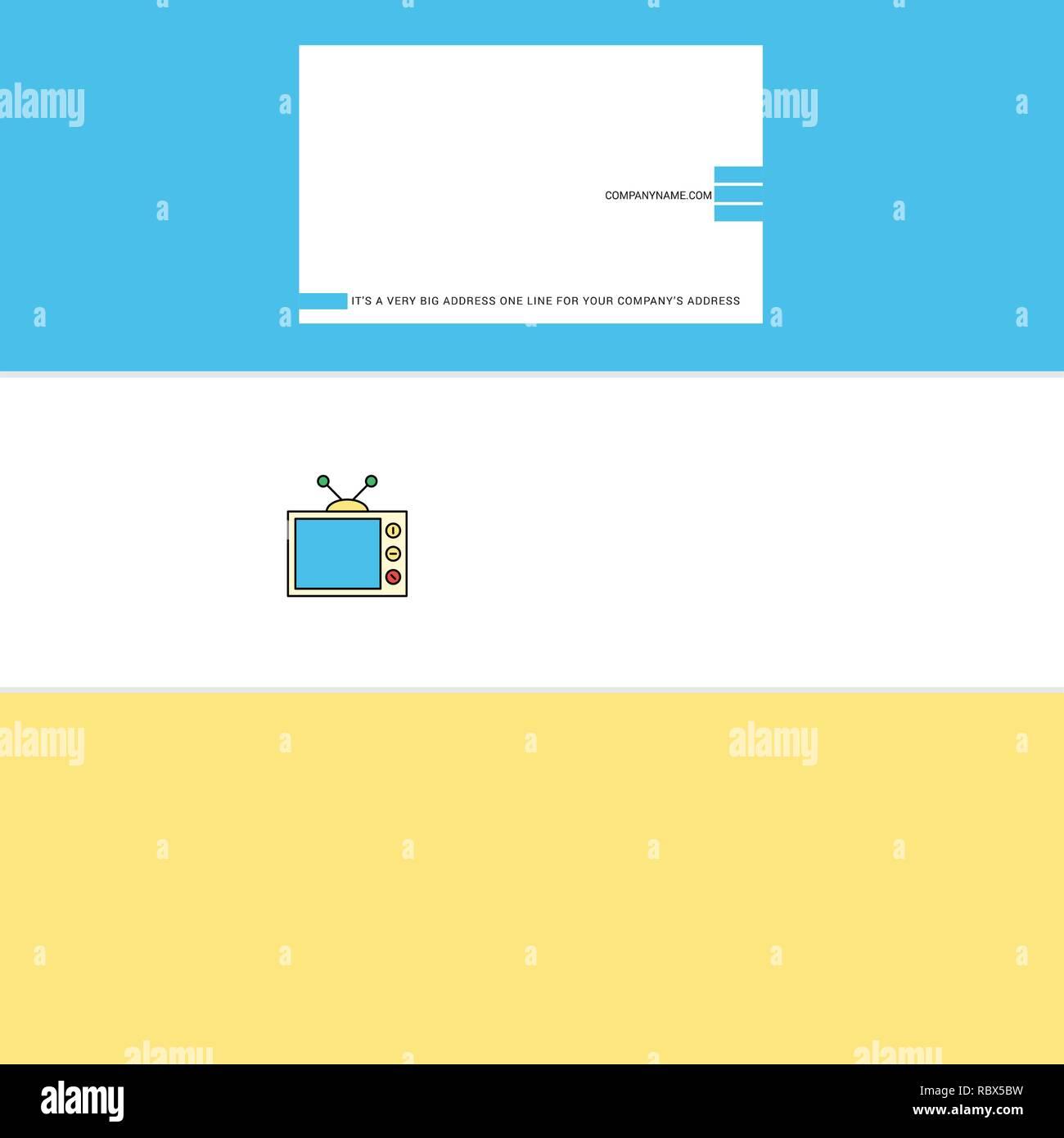 Schöner Fernsehen Logo Und Visitenkarte Vertikale Design Vector