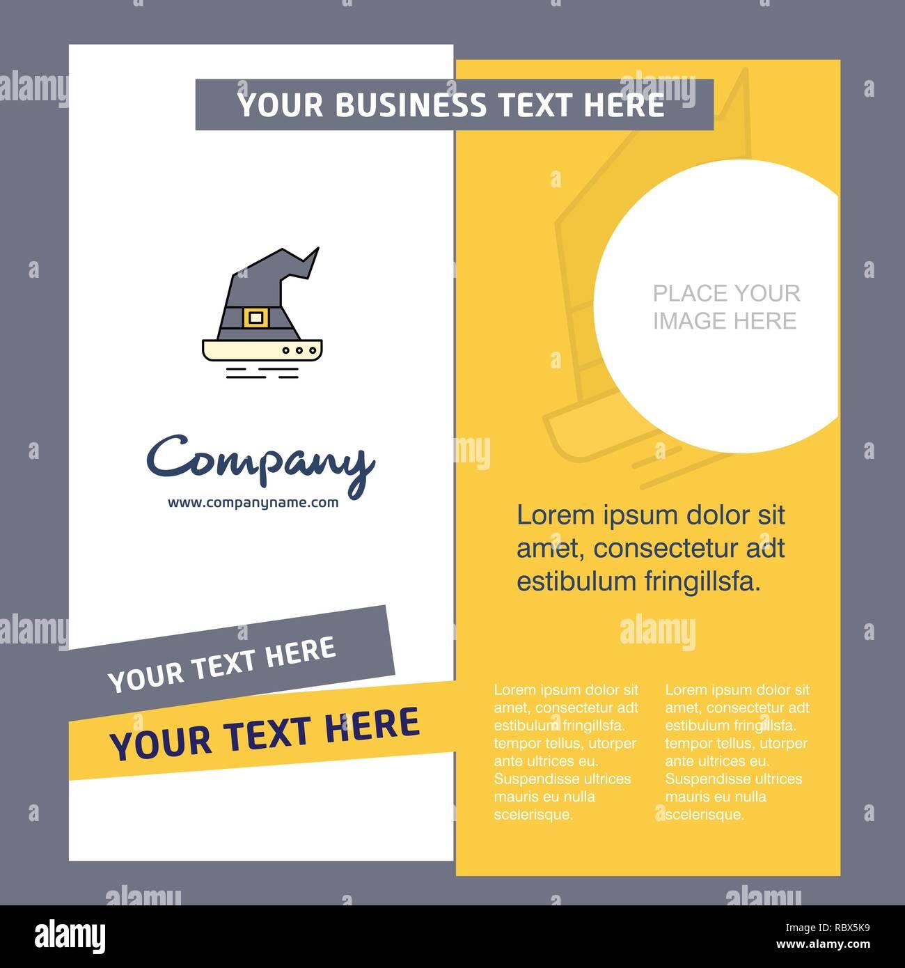 Hexenhut Unternehmensbroschüre Vorlage Vector Business Template