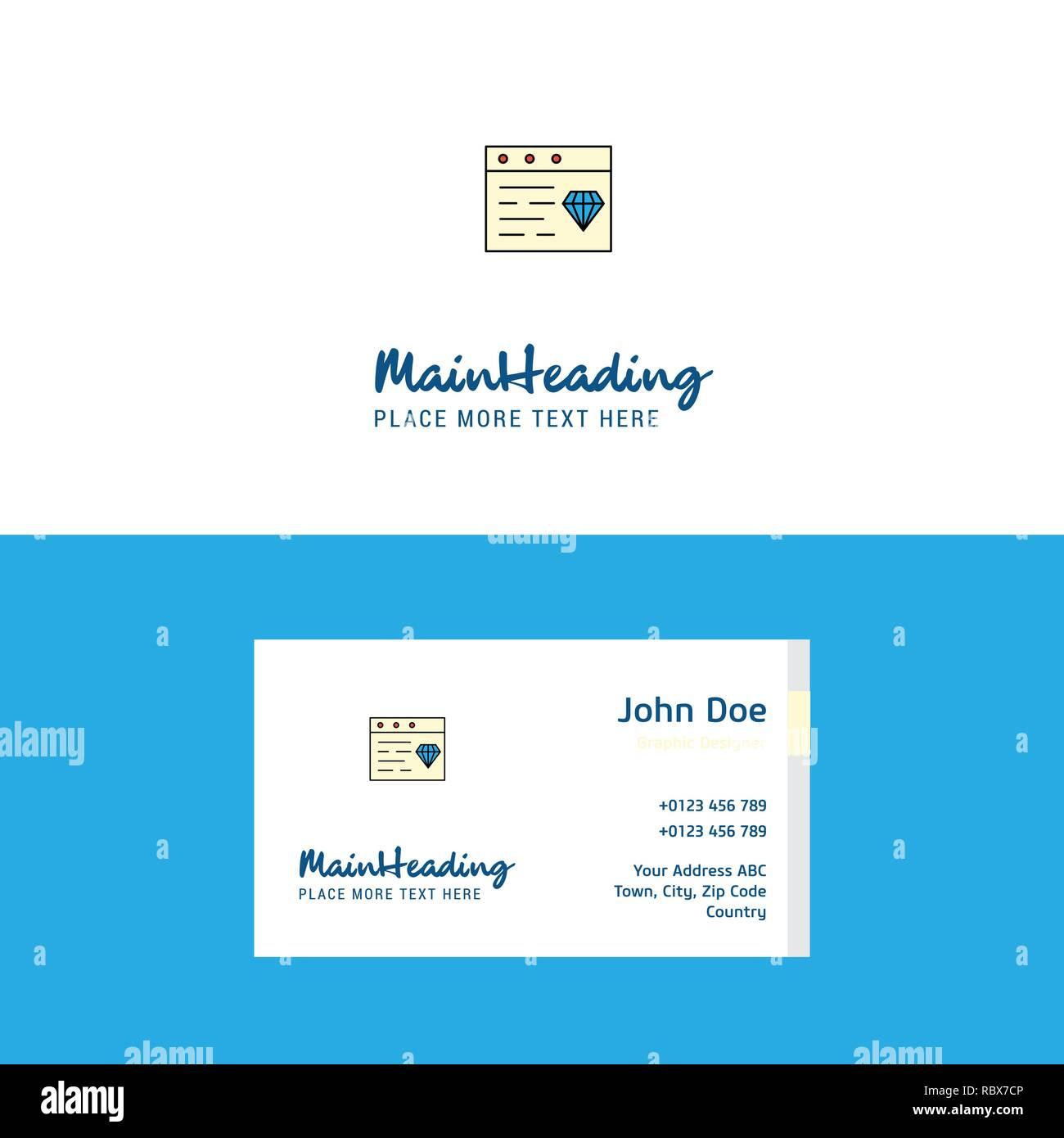 Flache Schmuck Auf Der Website Logo Und Visitenkarte Vorlage