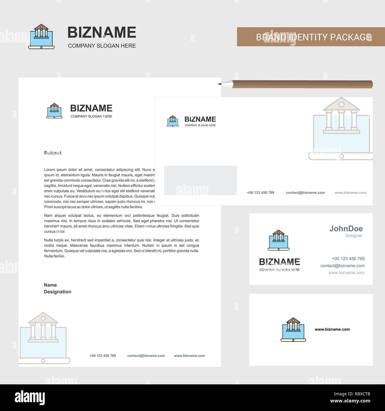 Immobilien Website Business Briefkopf Umschlag Und