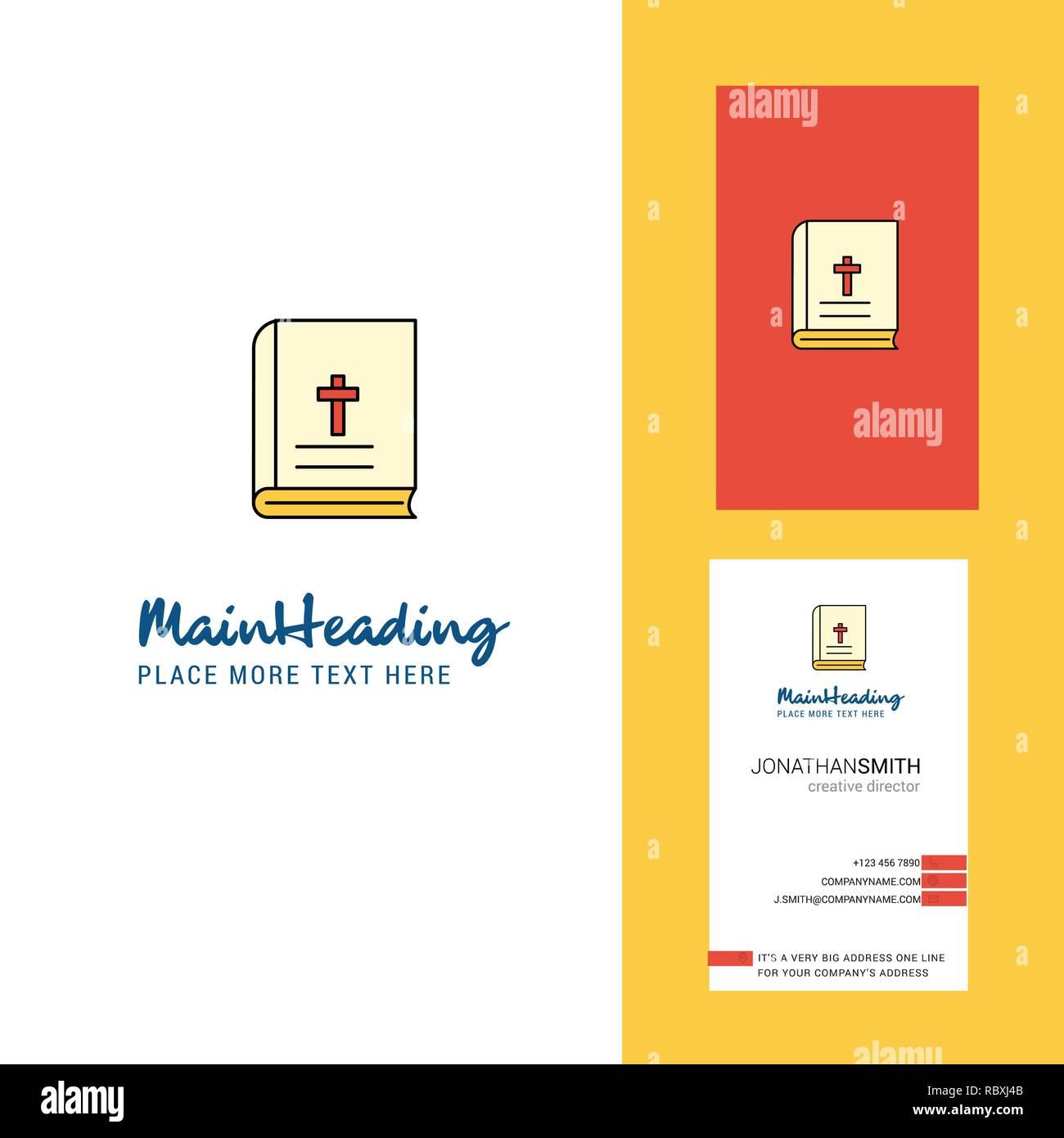 Heilige Bibel Kreativ Logo Und Visitenkarte Vertikale