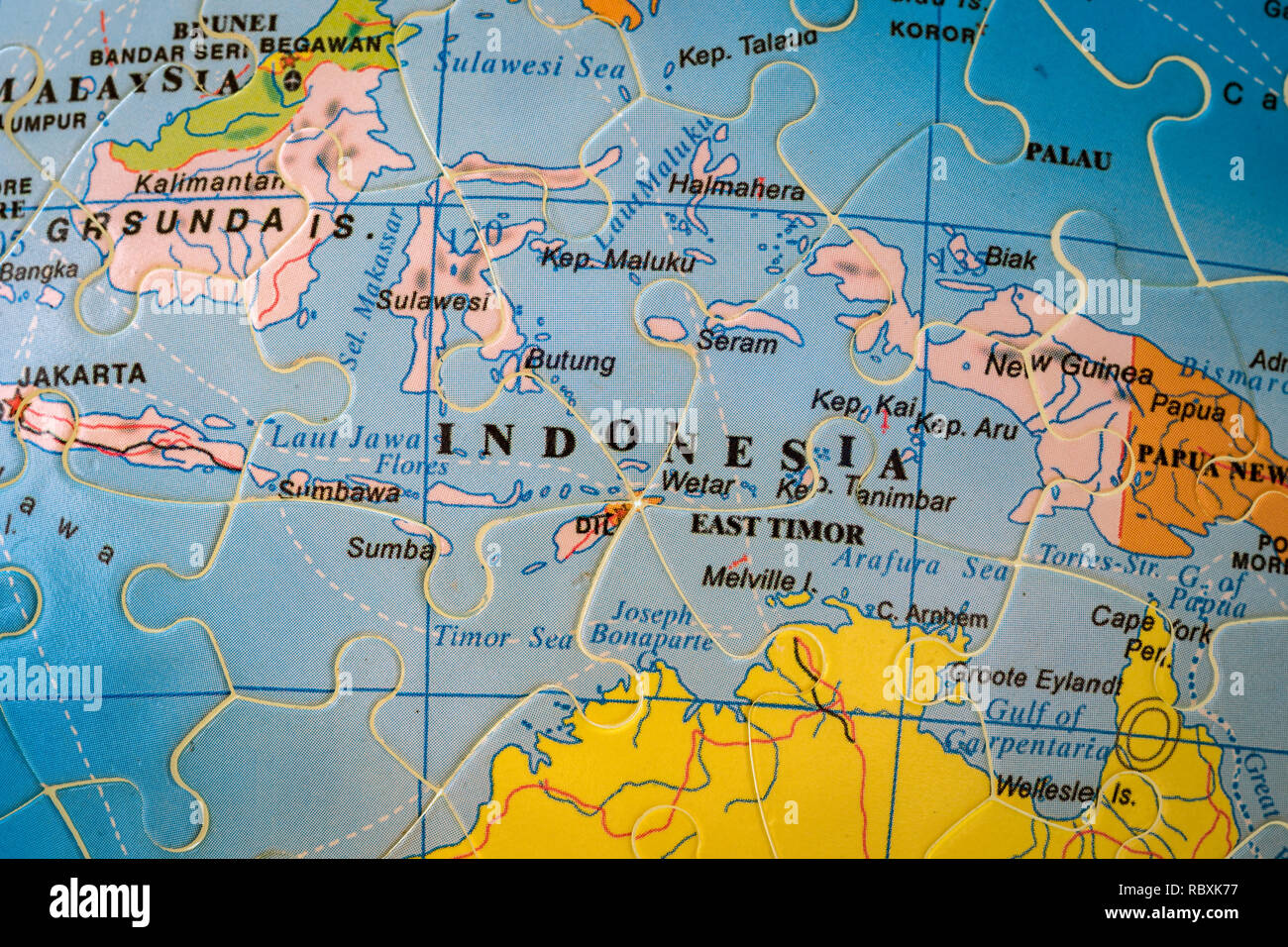 Indonesien Karte.Map Of Indonesia Stockfotos Map Of Indonesia Bilder Seite 2 Alamy