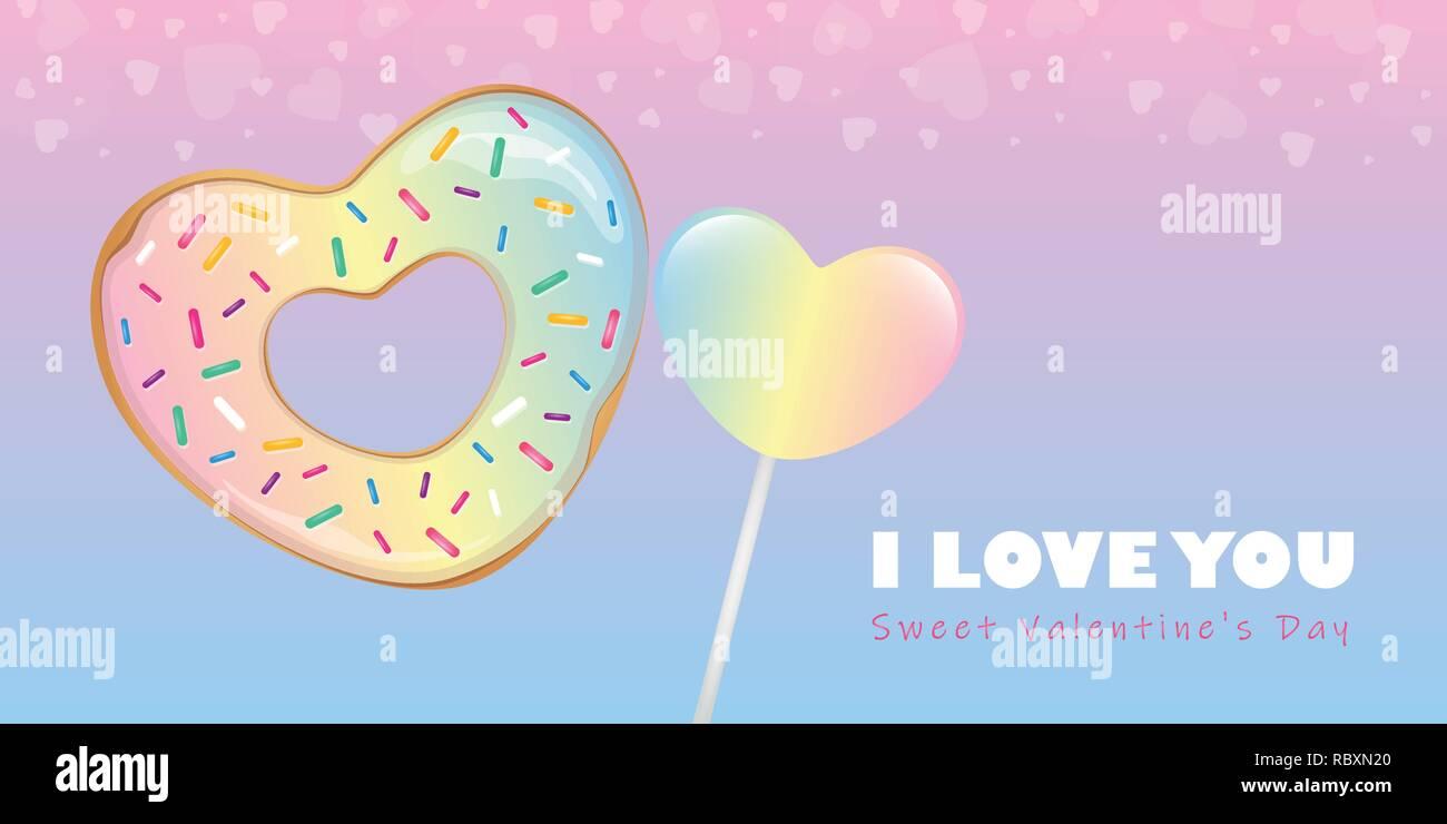 Herz Donut Herz Stock Vektorgrafiken kaufen   Alamy