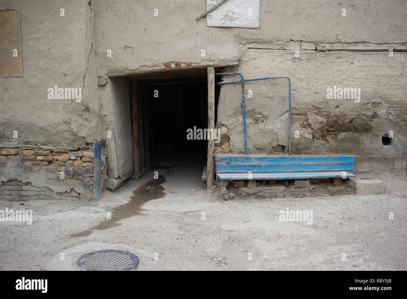Alltag in der Altstadt von Buchara, Usbekistan. Stockbild