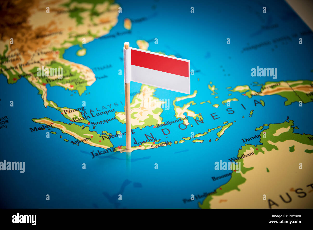 Indonesien Karte.Indonesische Karte Stockfotos Indonesische Karte Bilder