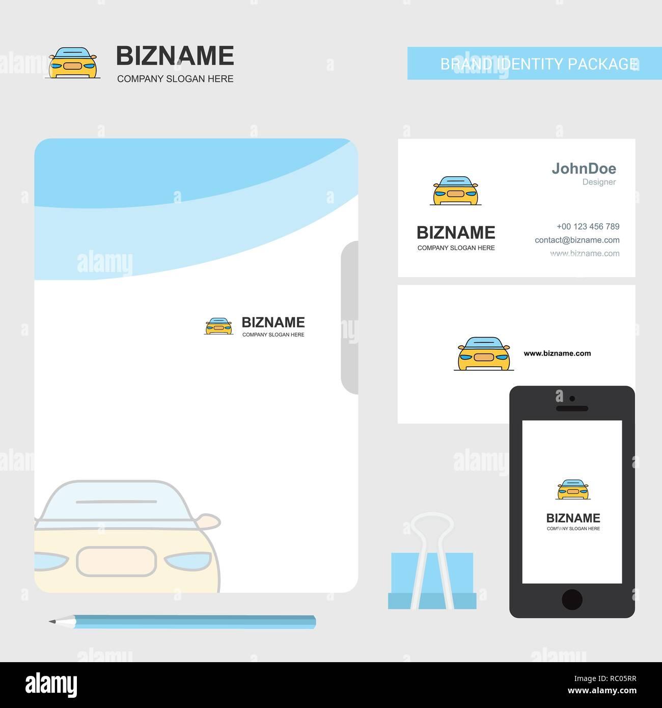 Auto Business Logo Ordnerdeckel Visitenkarte Und Mobile App