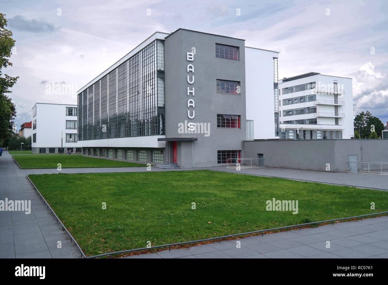 Dessau, Sachsen-Anhalt, Bauhaus, Architektur, Gropius, Design Stockbild